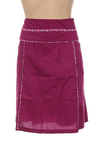 Jupe mi-longue violet COLINE pour femme