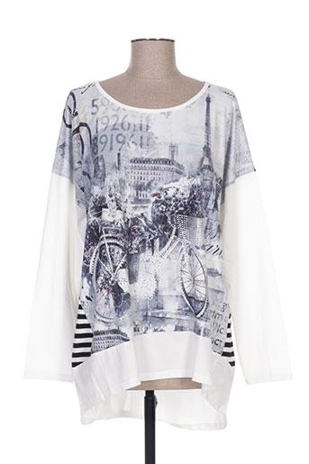ky creation t-shirts femme de couleur blanc