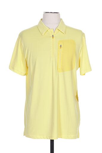 icepeak t-shirts homme de couleur jaune