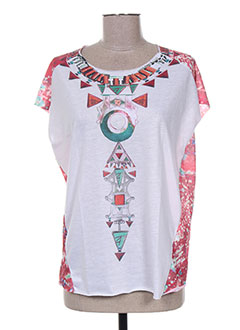 T-shirt manches courtes rose ANTIK BATIK pour femme