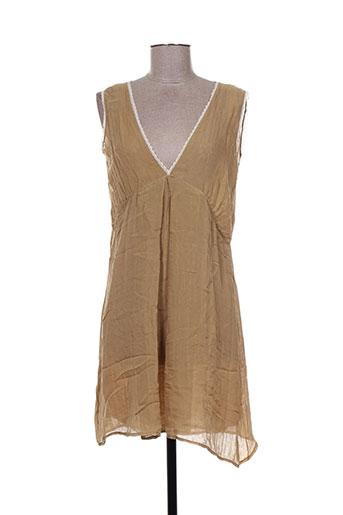 momoni robes femme de couleur beige