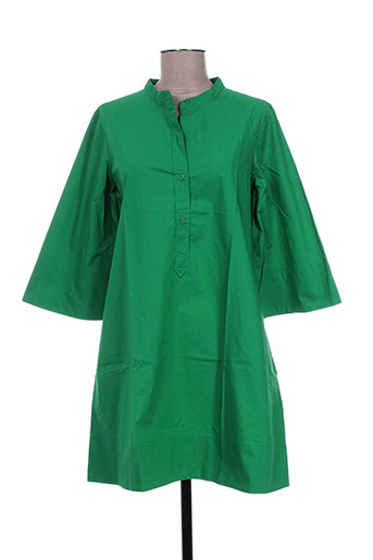 laurence dolige robes femme de couleur vert