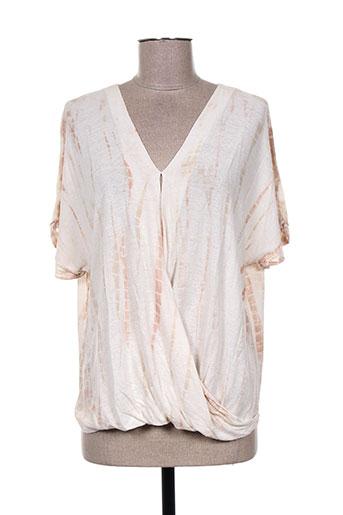 T-shirt manches courtes beige CHARLIE JOE pour femme