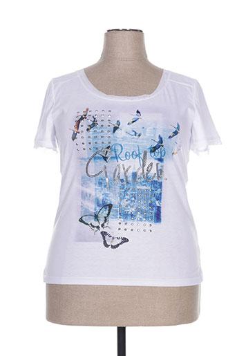 leslie t-shirts femme de couleur blanc