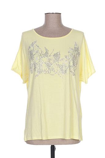 leslie t-shirts femme de couleur jaune