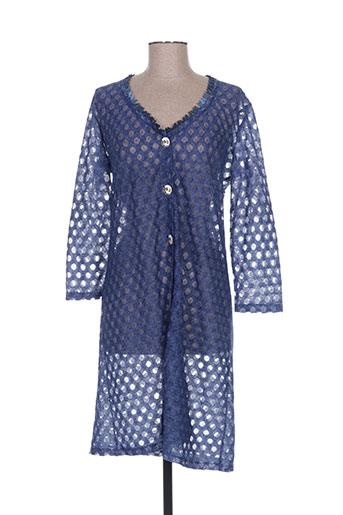 Veste casual bleu LO! LES FILLES pour femme