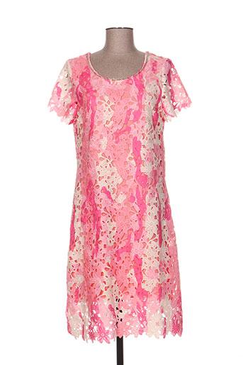 leslie robes femme de couleur rose