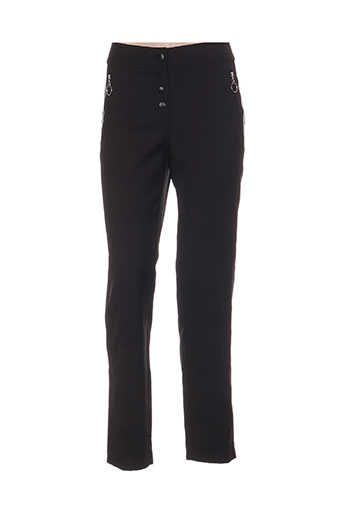 leslie pantalons femme de couleur noir