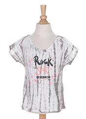 T-shirt manches courtes gris 3 POMMES pour fille seconde vue
