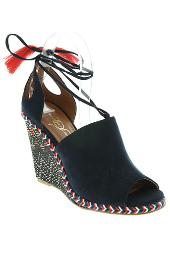 the divine factory chaussures femme de couleur bleu