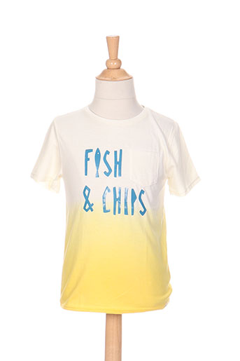 billybandit t-shirts garçon de couleur jaune