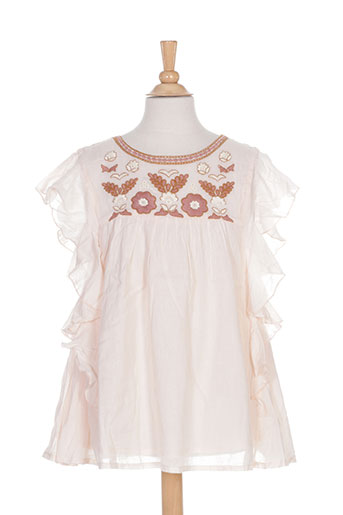 louise misha robes fille de couleur rose