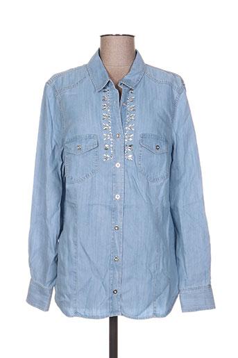 thomas rabe chemises femme de couleur bleu