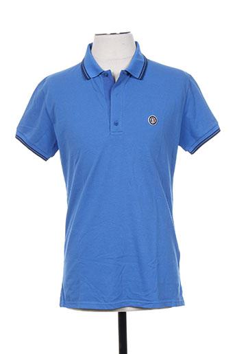 Polo manches courtes bleu KIWI pour homme
