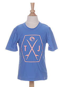 T-shirt manches courtes bleu TIGER JOE pour garçon