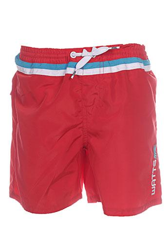 watts maillots de bain garçon de couleur rouge