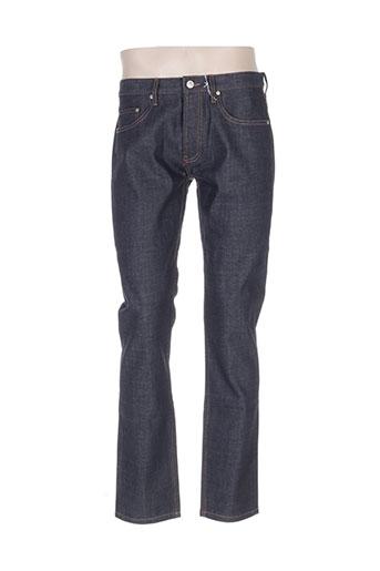 spontini jeans homme de couleur bleu