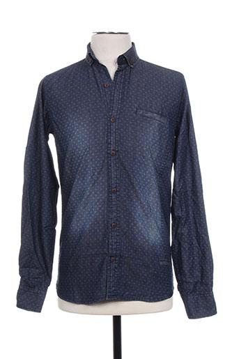 tarz cool chemises homme de couleur bleu