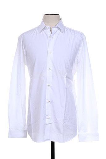 spontini chemises homme de couleur blanc