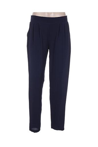 charming girl pantalons femme de couleur bleu