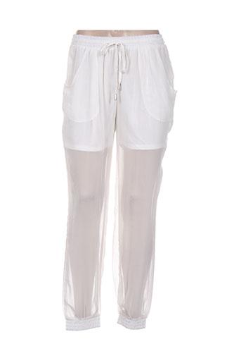 sophyline EFFI_CHAR_1 co pantalons femme de couleur blanc