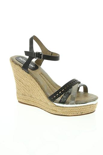 poti pati chaussures femme de couleur noir
