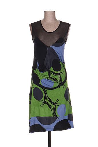 paramita robes femme de couleur vert