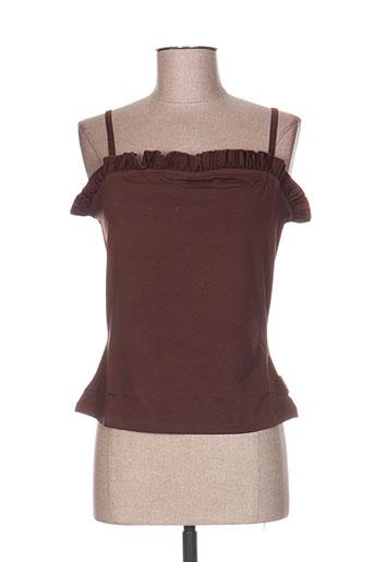 cottonade chemises femme de couleur marron