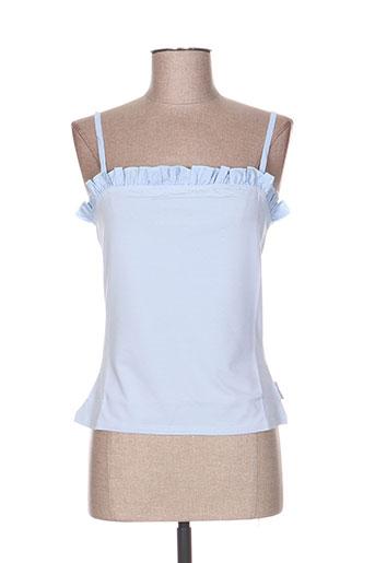 cottonade chemises femme de couleur bleu