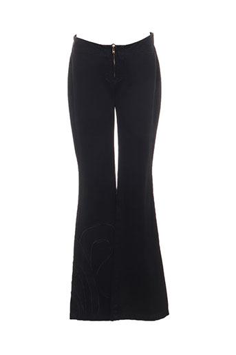 guess jeans pantalons femme de couleur noir