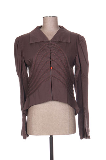 moloko chemises femme de couleur marron