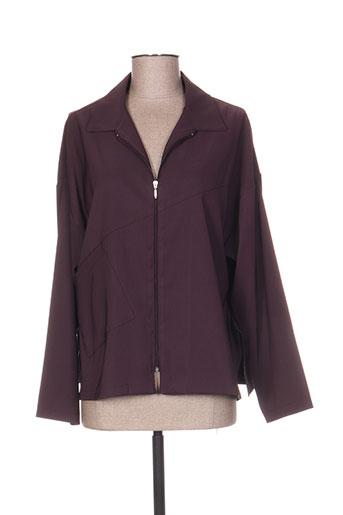 Veste casual violet LAUREN VIDAL pour femme
