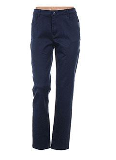 Pantalon casual bleu BARILOCHE pour femme