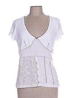 T-shirt manches courtes blanc EPICEA pour femme