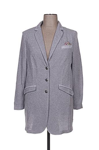 white label vestes femme de couleur gris