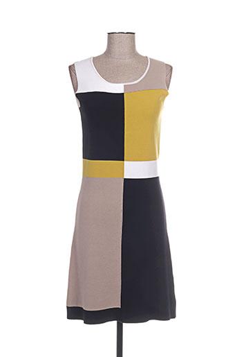 paul ka robes femme de couleur jaune