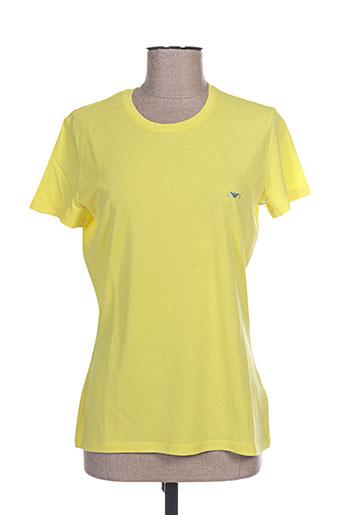 armani t-shirts femme de couleur jaune