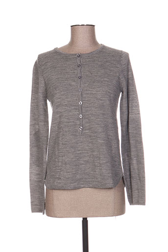 Pull col rond gris CORLEONE pour femme
