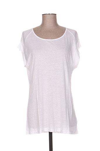 T-shirt manches courtes blanc ALLUDE pour femme