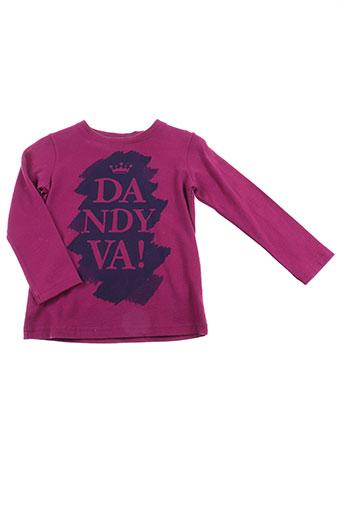 T-shirt manches longues rose VICOMTE ARTHUR pour fille