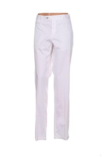 cerruti 1881 pantalons femme de couleur blanc