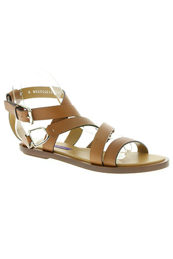 ralph lauren chaussures femme de couleur marron