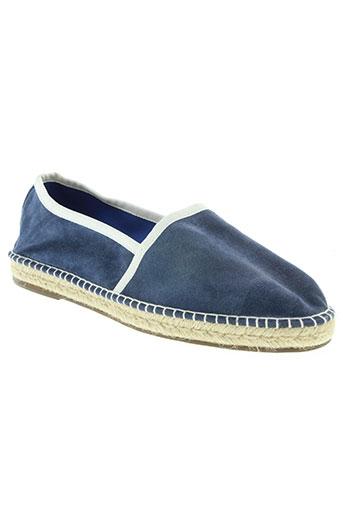 escadrille chaussures homme de couleur bleu