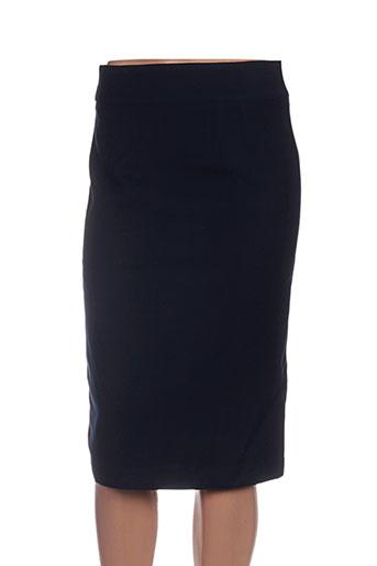 Jupe mi-longue bleu HIPPOCAMPE pour femme
