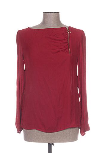Tunique manches longues rouge SUMMUM pour femme