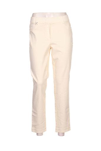 ascari pantalons femme de couleur jaune