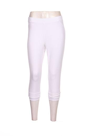 simclan pantalons femme de couleur blanc