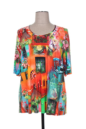 sempre t-shirts femme de couleur orange