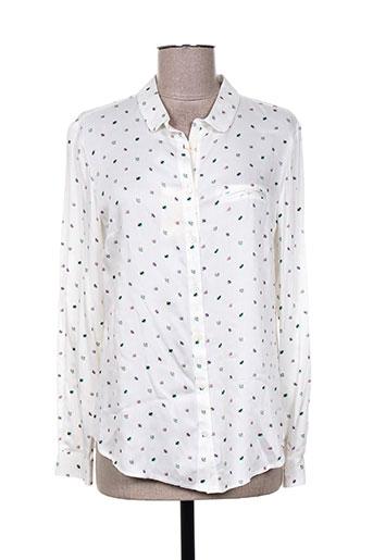 tinta style chemises femme de couleur blanc