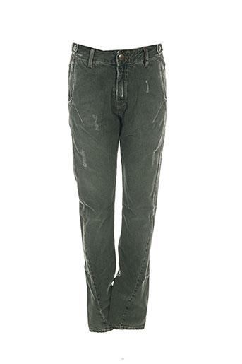 used jeans pantalons femme de couleur vert